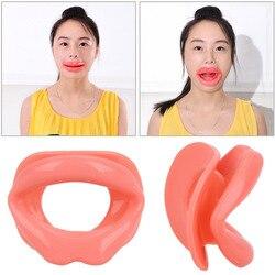 Silikon-gummi-gesicht Schlanker Übung Mundstück Muscle Anti-falten Lip Trainer Mund Massager Exerciser Mundstück Gesichtspflege