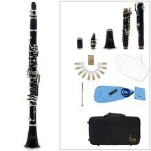 Clarinet ABS 17 Key bB Flat Soprano Binocular Clarine 10 Reeds Screwdriver Reed Case Woodwind Instrument