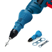 Electric Pull Rivet Conversion Adapter Electric Rivet Nut Guns Riveting Drill Adaptor Nut Tool Multifunction Nail