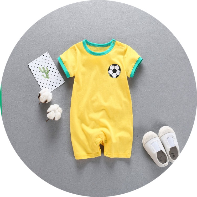 T girls boys football jumpsuits baby cotton short sleeved Rompers kinds doll collar garments baby clothing infant rompers