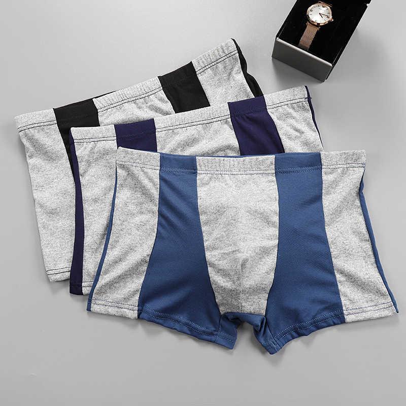 Patchwork Male Large Size Cotton Underwear Men Boxer Comfortable Breathable Men's Underwear Boxer Extra Large Boxer Men