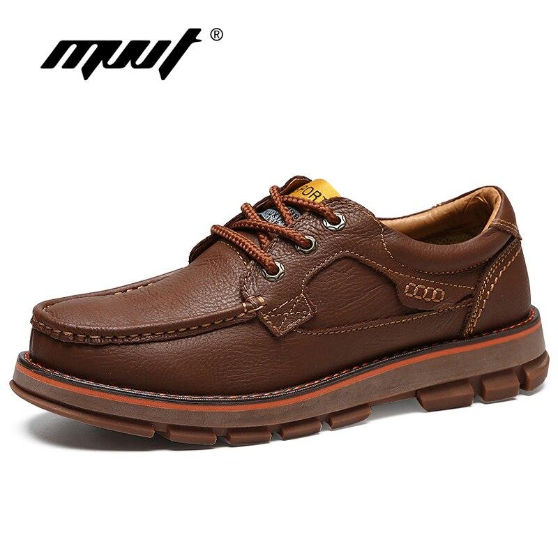 MVVT en cuir véritable hommes bottes chaussures de sécurité travail outillage bottes qualité hiver bottes résistant à l'usure en caoutchouc bottine hommes chaussures