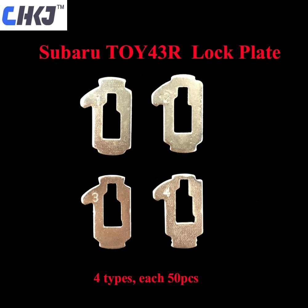 CHKJ 200pcs/lot TOY43R Car Lock Reed Locking Plate For Subaru Auto Repair Accessaries Kit Locksmith Supplies 4 Types Each 50pcs