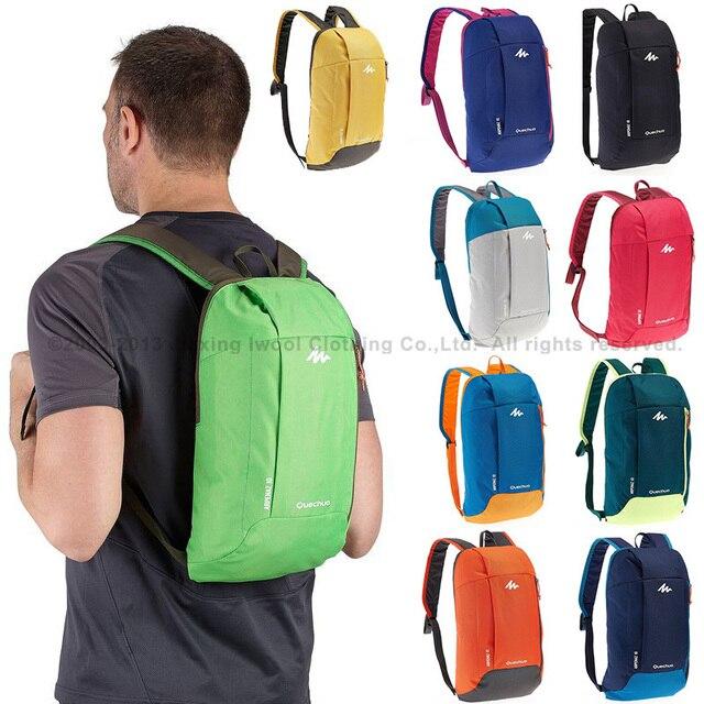 23b5fb9a91 QUECHUA men women hiking backbags eropean sports bags travel duffle 10L  small bagrucksack rugzak mochila camping Arpenaz 10
