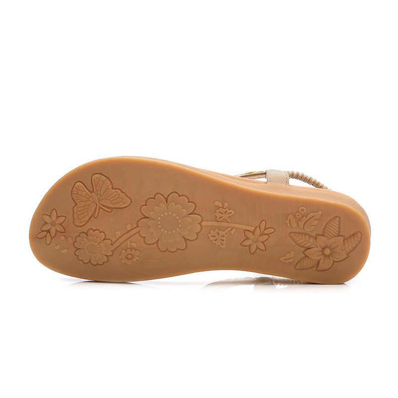TIMETANGFree ShippingSize35-41New 国家のスタイル二快適なフラット自由奔放に生きる女性サンダル WomenSandals SummerShoesE489