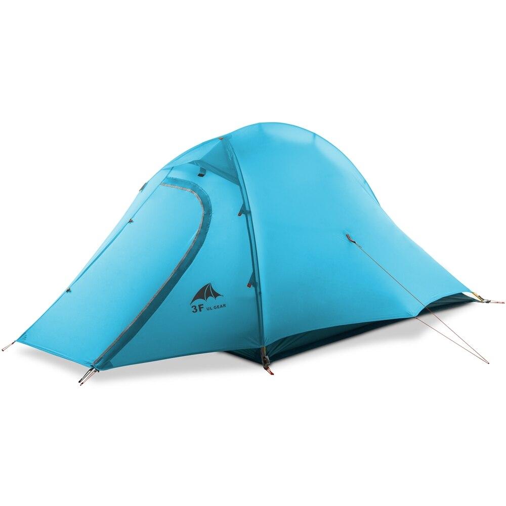 3F UL Engrenagem 2 Pessoa Mochila Ultraleve 15D 3 Silicone Revestido Ou 4 Temporada Tenda À Prova D' Água Para Camping