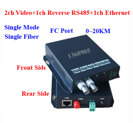 2V1D1E Surveillance video data Ethernet optical Fiber Media Converter 2ch Video + 1ch RS485 data +1ch 10/100M Ethernet  FC 20KM new 1ch hdsdi multifunction optical media converter 1080p transceiver video ethernet rj45 rs485 data audio over single fiber