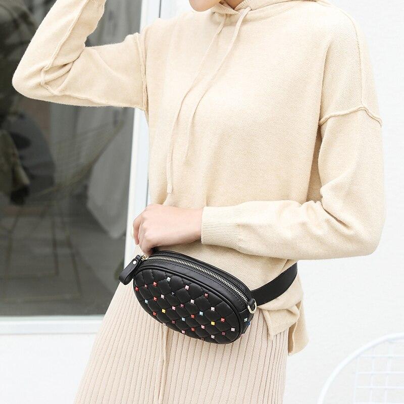 Здесь продается  Vvmi genuine leather waist bag women shoulder crossbody Bags sheepskin chest bag pack  zipper women messenger chain bags  Камера и Сумки