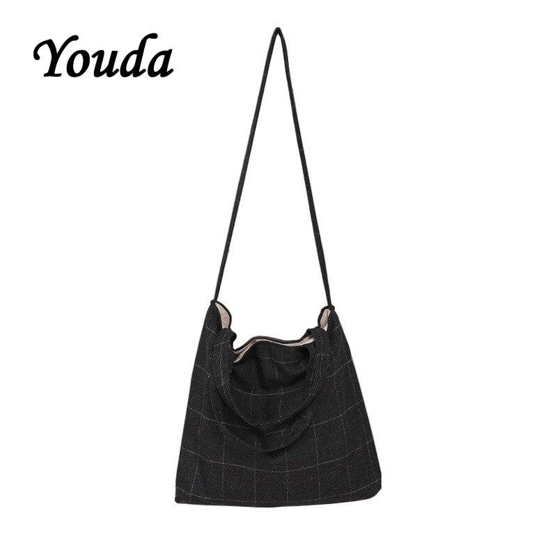 Beliebte Marke Youda 2018 Klassische Wolle Plaid College Wind Schulter Crossbody-tasche Student Einfache England Handtasche Gute QualitäT