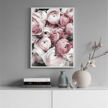 цена на Rose Flowers Wall Pictures Wall Art Canvas Painting Peony Canvas Art Print Home Decor Love Romantic Posters And Prints Unframed