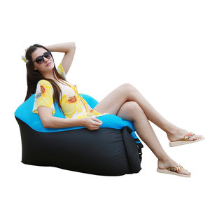 Image 3 - Outdoor Furniture Inflatable Camping Chair Beach Chair Sofa For Hiking Picnic And Fishing Rest Folding Air Lounge Sofa Bed