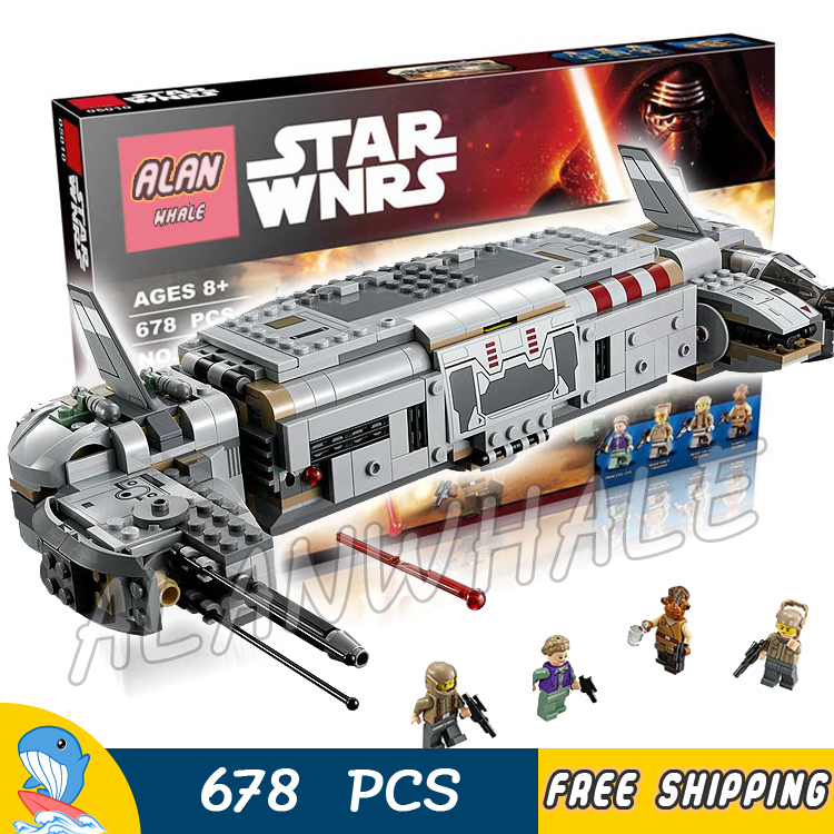 678pcs Lepin 05010 New Star Wars Resistance Troop Transporter Assembling Building Blocks Children Toy Gifts Compatible With lego lepin 02025 city the high speed racer transporter 60151 building blocks policeman toys for children compatible with lego