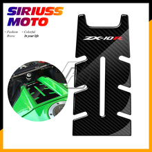 3D Motorcycle Front Gas Fuel Tank Cover Protector Tank Pad Case for Kawasaki ZX-10R ZX10R ZX 10R 2011-2017 pazoma motorbike steel green orange gas tank motorcycle fuel tank for simson s50 s51 s70