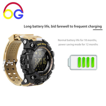 OGV X16 Bluetooth Smart Watch Long Standby Disc Motion Step Information Push Multifunction Waterproof IP68 Photo Smart Wristband умные часы smart watch y1