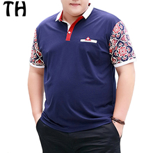 2016 Personalized Short Sleeve Print Summer Polo Men Tops 4XL 5XL 6XL Plus Size Polo Shirt Homme
