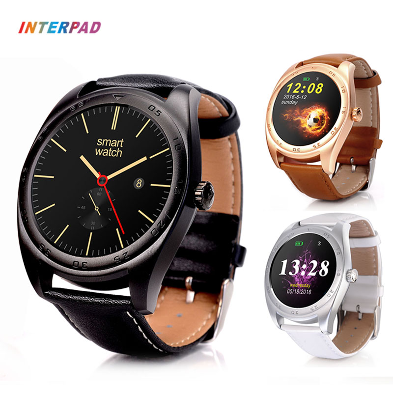 Interpad Smart Watch IPS Round Screen Leather/Steel Strap Smartwatch Heart Rate Monitor For Xiaomi Huawei As Lover Gifts PK k89 interpad smart watch professional sports algorithm altimeter thermometer smartwatch heart rate monitor smart watch for xiaomi