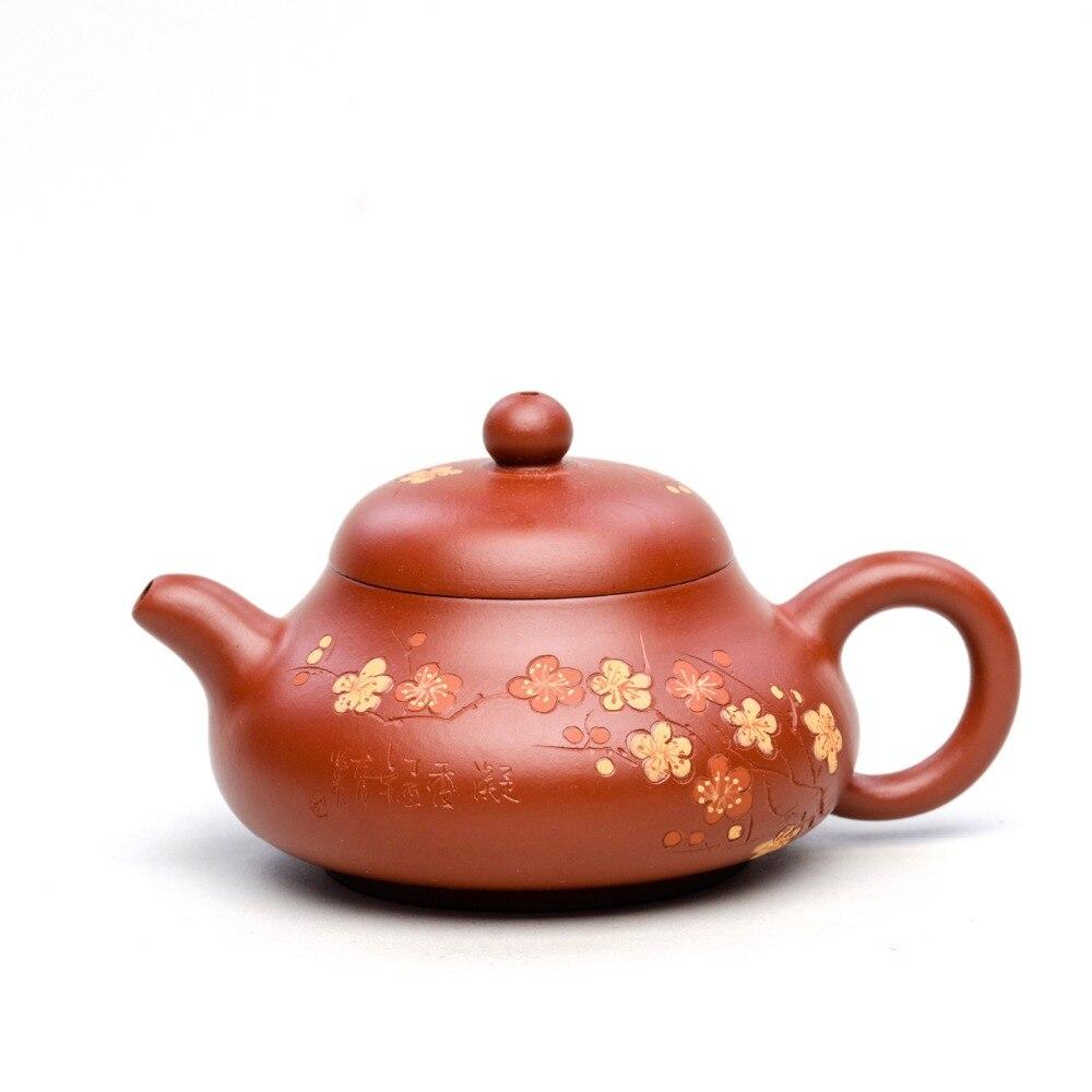 170ml Zisha Teapot Yixing Genuine original purple clay famous master all handmade jade milk teapot Kung Fu tea kettle tea gift gift gift gifts   -