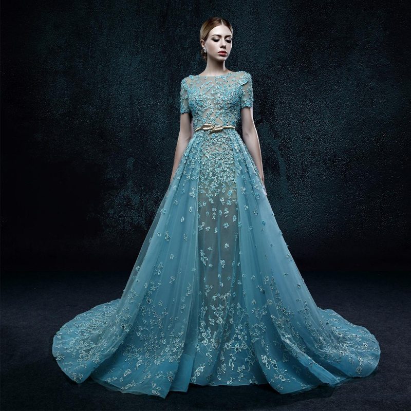 Popular blue sky bridal buy cheap blue sky bridal lots for Sky blue wedding guest dresses