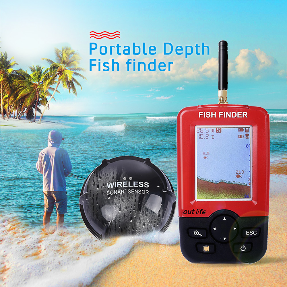 Back To Search Resultssports & Entertainment Friendly Smart Portable Depth Fish Finder With 100 M Wireless Sonar Sensor Sounder Fishfinder For Lake Sea Fishing