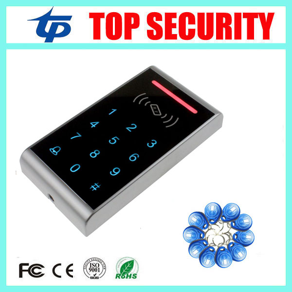 Smart card 125KHZ RFID ID card access controller waterproof touch keypad door access control panel ID card access control reader