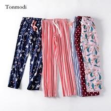 Women's sleep pants stripe Pants pyjama trousers Woven cotto