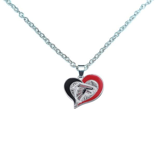 Sell Well Personality Fashion Sports Necklace Jewelry Football Atlanta  Falcons Charm Dangle Enamel Simple Necklace Jewelry f18f235f13da