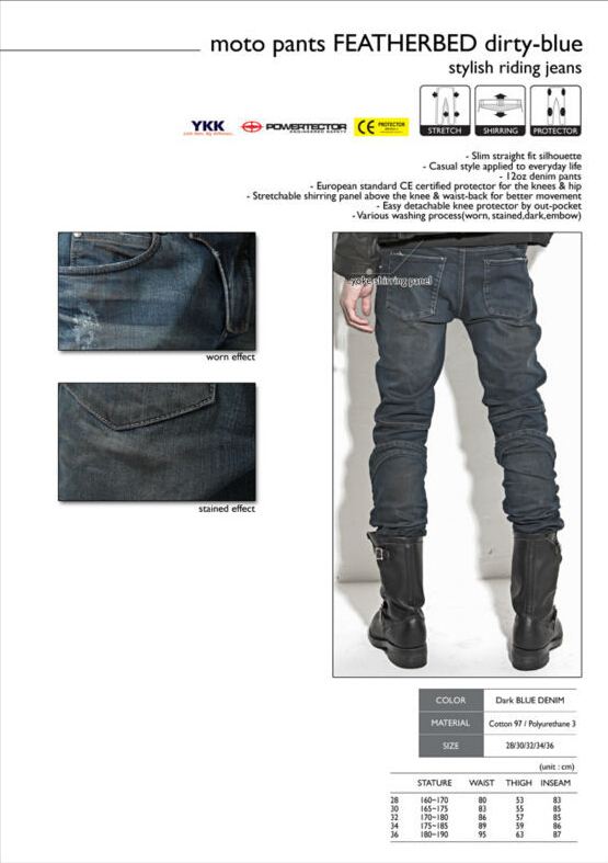 Newest uglyBROS Featherbed jeans The standard version car ride jeans trousers Motorcycle jeans Drop the jeans Blue and gray