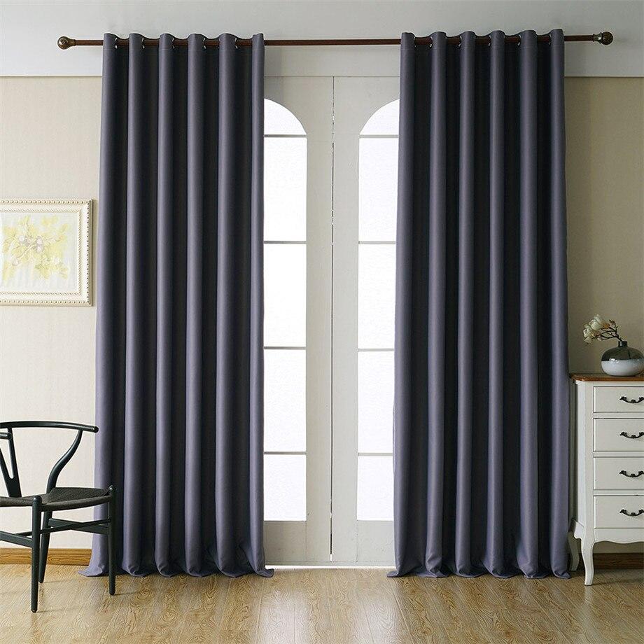 Byetee moderno cortinas blackout para sala de estar para o quarto personalizar terminado cortinas cortina da cozinha
