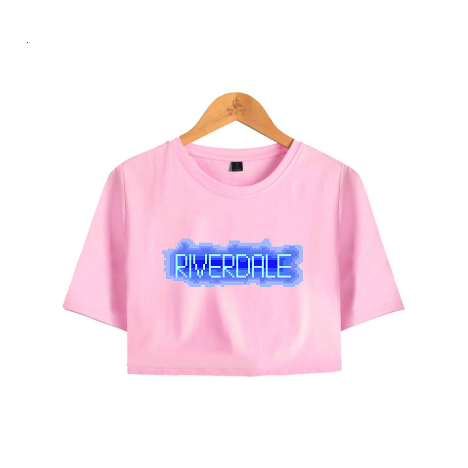 Riverdale Summer Funny Print Bare Midriff Top Women Hot Sale Exposed tshirt Sexy Short Sleeve Riverdale Crop top in T Shirts from Women 39 s Clothing