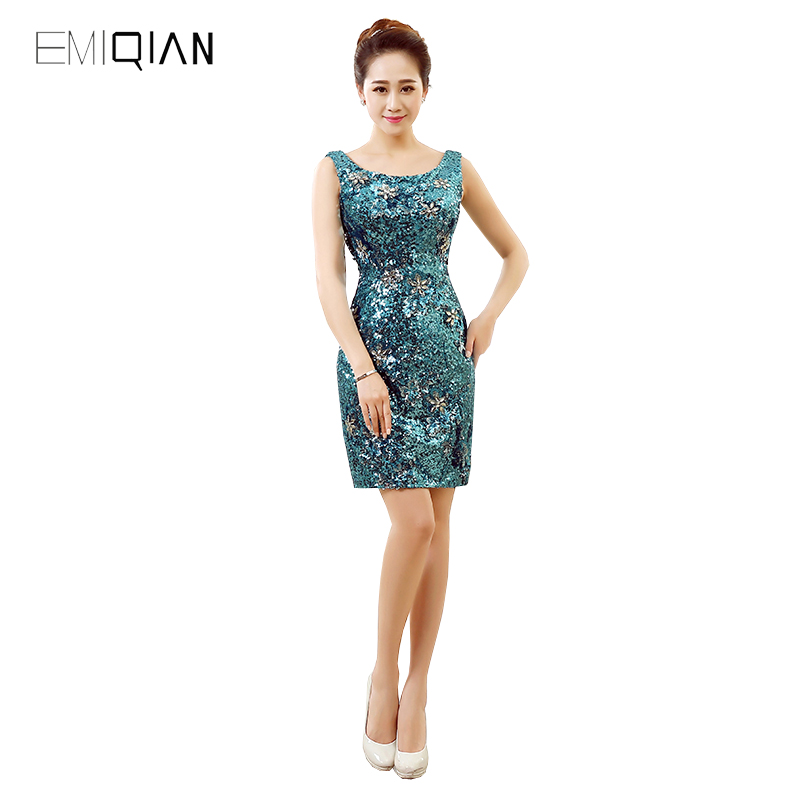 Original Design Shiny Sequined Homecoming   Dress   Sheath Tank Mini   Cocktail     Dress