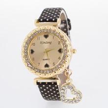 2016 Essential Дамы Девушка унисекс кожаный кристалл браслет наручные часы кварцевые платье Часы часы час Для женщин Relogios
