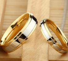2 pairs engagement ring men wedding rings for women anillos mujer gold stainless steel pandora couple