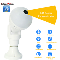 Intendvision Panoramic 360Degree Wireless E27 Bulb WIFI Camera 5mp 3mp 2mp Mini IR CUT Home Security CCTV Camera IDGD2
