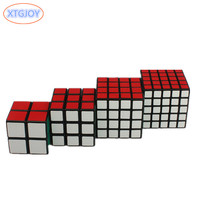XTGJOY 4pcs/set Puzzle Cube 2x2x2, 3x3x3, 4x4x4, 5x5x5 Professional Speed Learning&Educational Puzzle Cubo Magico Toys