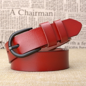 Image 4 - Cinturón de cuero de vaca de alta calidad para mujer, cinturón Retro, informal, a la moda, salvaje