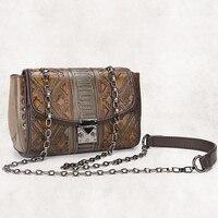 2017 New Women PVC Chain Sling Shoulder Bag Vintage Trend Embossed Ladies Satchel Designer Casual Small