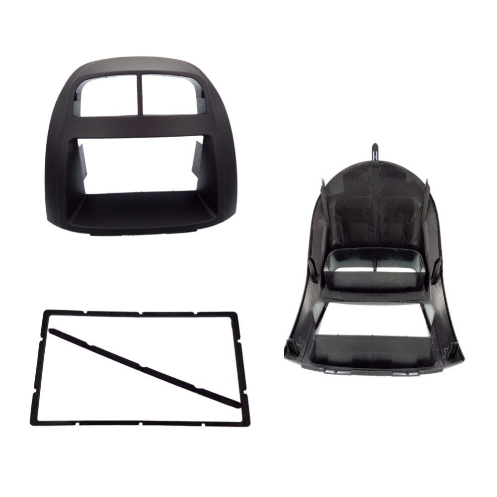 2 Din Car Radio Fascia for Toyota Passo Proton Myvi Daihatsu Sirion Justy Car Radio Fascia Trim Kit Facia Bezel Plate Cover передняя юбка обвеса tg lip toyota passo daihatsu sirion subaru justy perodua myvi