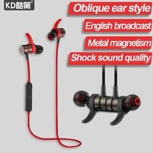 KD бренд Беспроводные Наушники В ухо Наушники Спортом Бег Музыкальный Bluetooth Микрофон Для iphone Huawei XiaoMi