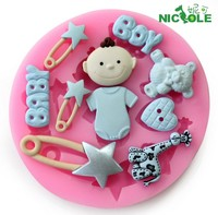 Silicone 3D Mold Cookware butterfly bow baby 8.3x1.1cm Non-Stick Cake Decoration Fondant biscuit Mold soap chocolate Mold A28