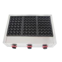 free shipping Gas 3 plates Takoyaki making machine Fish ball maker Takoyaki maker