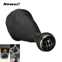 KOWELL Leatherette 6 Speed Manual Transmission Gear Shift Knob for Volkswagen VW TOURAN 03 10 / CADDY II 2 MK2 04 09 Gaiter Boot