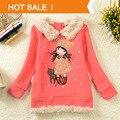 Chaqueta de las muchachas niños de la marca Hoodies Coat 2013 nueva caliente venta de la navidad del niño sobretodo de moda ocasional niñas prendas de vestir exteriores