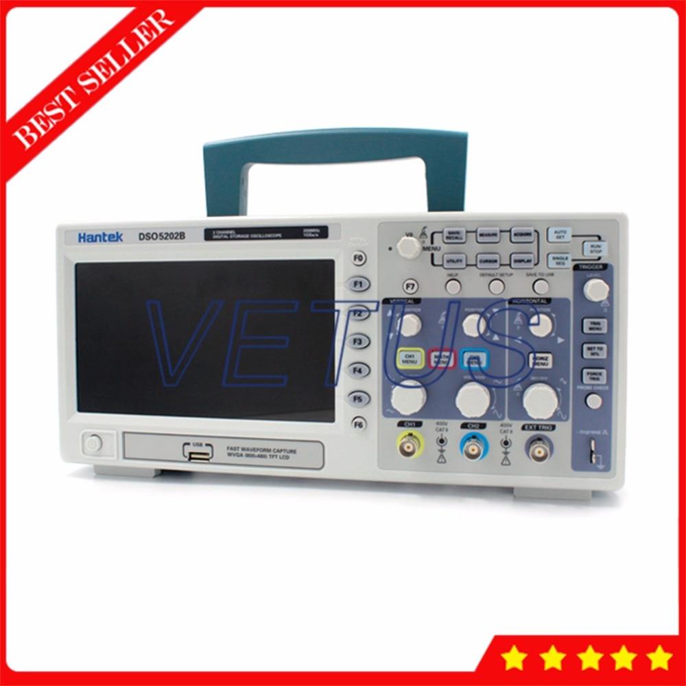 Hantek DSO5202B USB Portable oscilloscope with Bench type Digital osciloscopio 200MHz 1GSa/s 1M 2 Channels