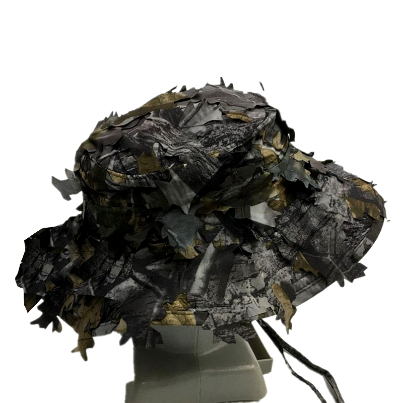 Outdoor Camouflage Hat Leaves Bionic Camouflage Hat Penny Cap Hunting Round W5L2