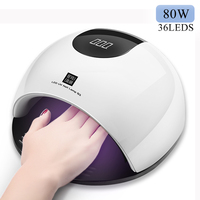 80W Smart Nail Lamp Dryer UV LED Nail Dryer Curing Lamps with Automatic Sensor Fingernail & Toenail Gel Curing Tool
