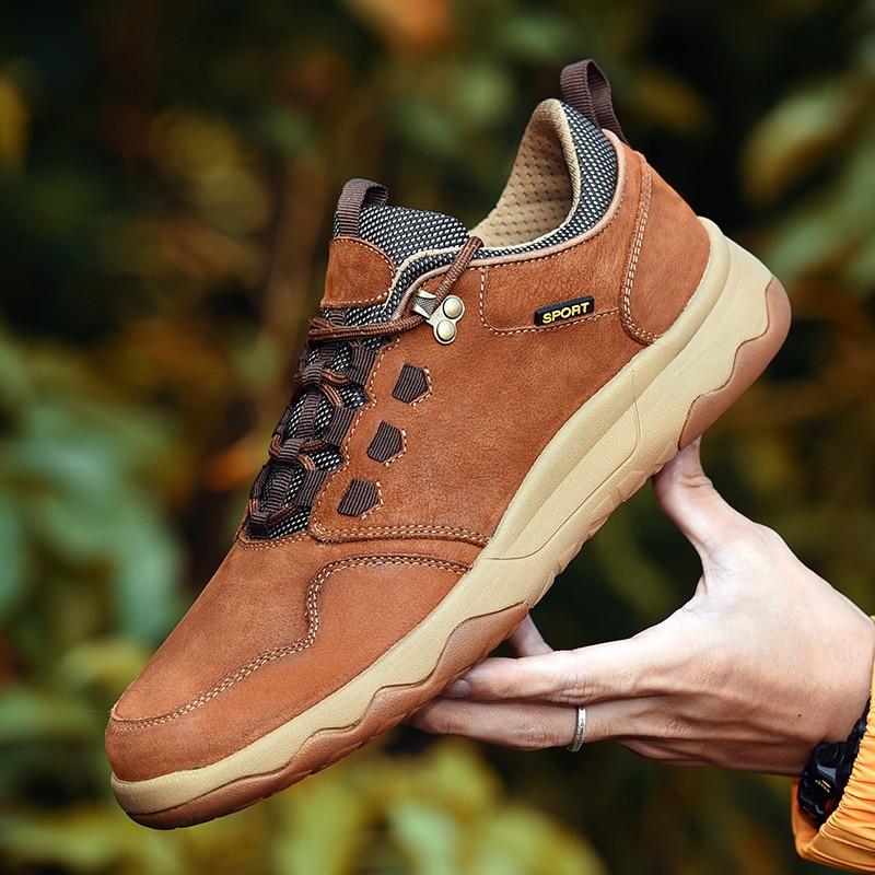 Kuh Leder herren Schuhe Freizeit Outdoor Plattform Schuhe Männer Casual 100% Echtem Leder Schuhe Top Qualität Männer Turnschuhe C4-in Freizeitschuhe für Herren aus Schuhe bei  Gruppe 1