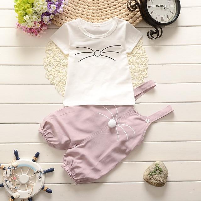 ④Niña de primavera ropa de bebé de algodón, patrón de la historieta ...