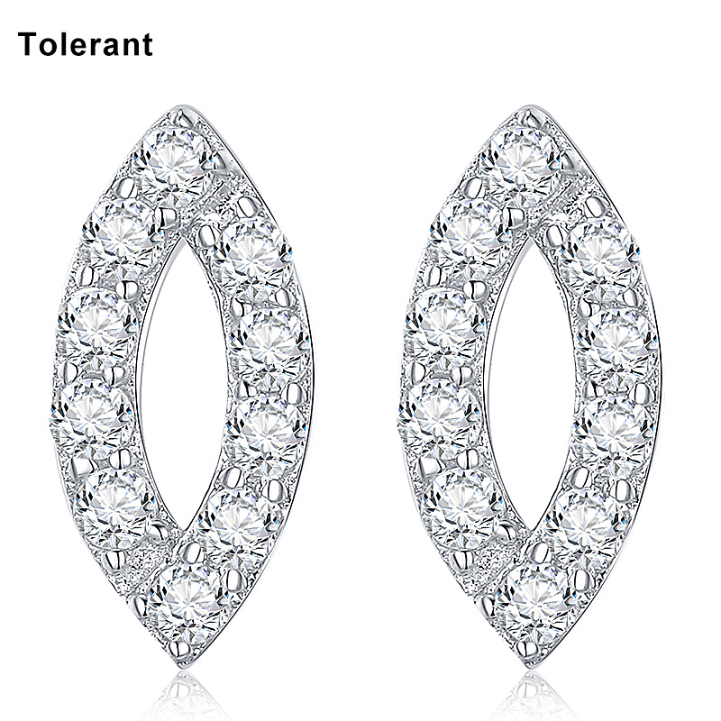 Charming Fashion Design Lip Shape Stud Earrings For Elegant Women 925 Silver Crystal Stud Earrings Gift For Wife RES00447 pair of charming faux crystal hoop earrings for women