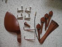 2 Sätze Jujube Violine passend 4/4 mit Silber farbe Feinstimmer, schwanz gut und kinnstütze schraube