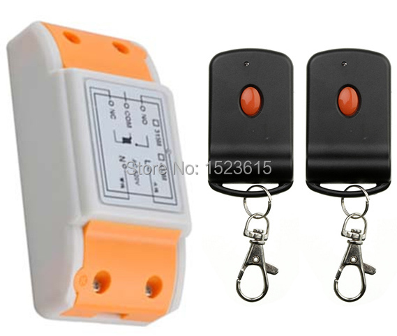 Teleswitch AC220V 10A 1CH RF Sistema de Interruptor de Control Remoto Inalámbric
